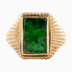 Ungierter Sigma-Ring aus Jade & 18 Karat Roségold, 1960er