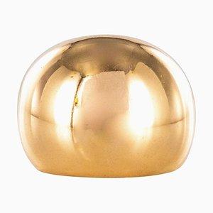 Kugelgelber 18 Karat Gelbgold Ring, 1980er