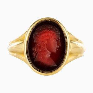 Ring aus 18 Karat Gelbgold aus 19. Jhdt