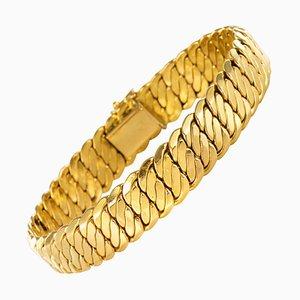 French 18 Karat Yellow Gold Flat Curb Bracelet
