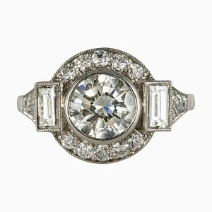 Diamant Platin Ring