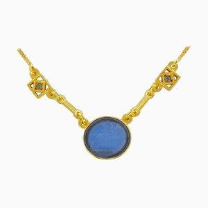 Intaglio und Kristall Halskette