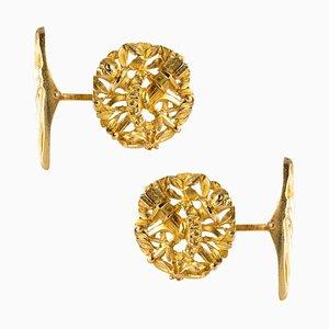Gemelli in oro giallo a 18 carati, Francia, XIX secolo, set di 2