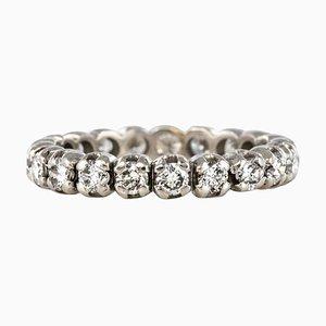 1.25 Carat Diamonds and 18 Karat White Gold Wedding Ring