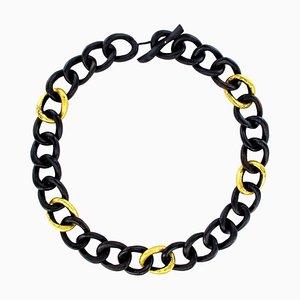 Collana africana in ebano dorato