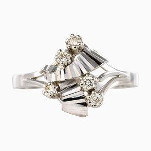 French Diamonds and 18 Karat White Gold Ring, 1970s