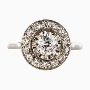 French Diamonds and Platinum Round Ring, 1925
