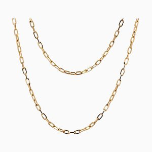 French 18 Karat Rose Gold Convict Link Chain, 1960s