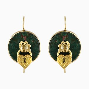 19th Century Padlock Drop Earrings, Set of 2