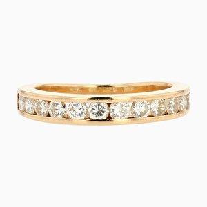 Diamonds and 18 Karat Yellow Gold Wedding Ring