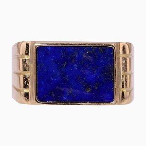 18 Karat Yellow Gold Signet Ring, 1950s