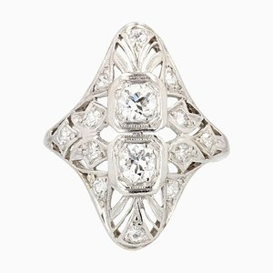 Diamonds and Openwork Platinum Ring, 1930s