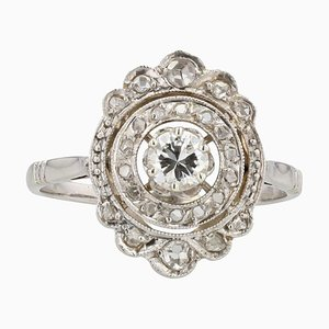 Diamonds and 18 Karat White Gold Ring