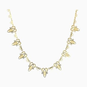 French 18 Karat Yellow Gold Necklace, 1900s