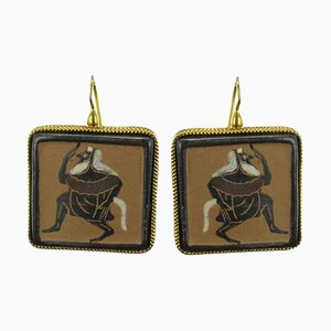 Italian Antique Drop Earrings, Set of 2