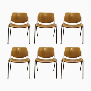 Model Nr 106 Chairs by Giancarlo Piretti for Lumi, Italy 1970s, Set of 6