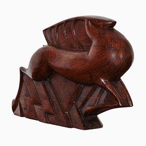 Art Deco Rosewood Gazelle Sculpture by Jacques Adnet, 1926