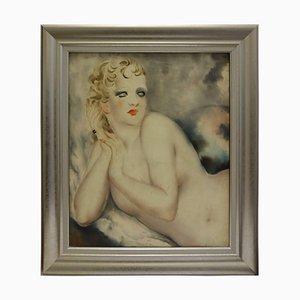 Weiblicher Ruhender Akt von Micao Kono, Art Deco, Frankreich, 1933