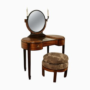 Dressing Table with Stool from Krieger, 1925, Set of 2