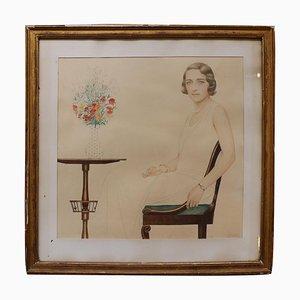 Portrait of Miss Lise Brissaud by Bernard Boutet De Monvel, 1928