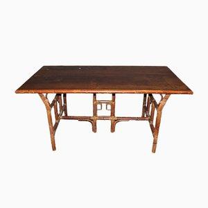 Mesa de jardín estilo japonés de ratán