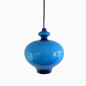 Hängelampe aus Blauem Glas von Hans Agne Jakobsson, 1960er