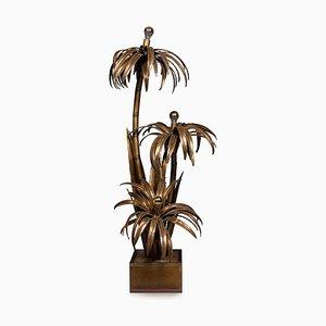 French Palm Tree Floor Lamp by Maison Jansen, Circa 1970
