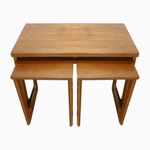 Mid-Century Teak Triform Nesting Table Set from McIntosh