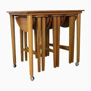 Set de Tables Gigognes Mid-Century en Teck par Poul Hundevad pour Novy Domov