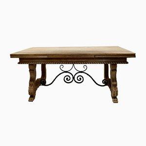 Spanischer Vintage Tisch aus gebleichter Eiche