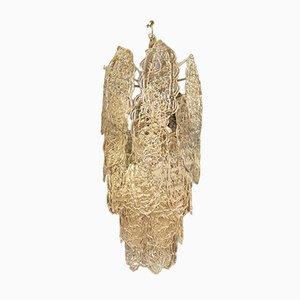 Lámpara de araña de cristal de Murano de Mazzega