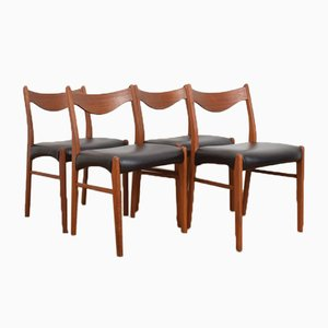 Mid-Century Danish Teak Dining Chairs by Arne Wahl Iversen for Glyngøre Stolefabrik, 1960s, Set of 4
