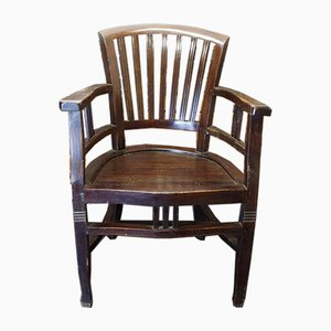 Vintage Indian Colonial Wood Armchair