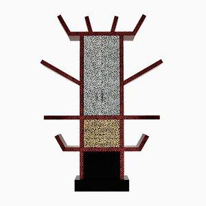 Estantería italiana modernista de laminado y madera de Ettore Sottsass, 1981