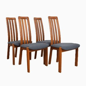 Mid-Century Danish Teak Dining Chairs, 1970s, Set of 4