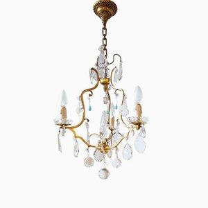 Lámpara de araña francesa con cristales