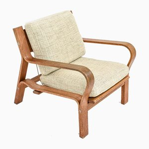 Vintage GE 671 Lounge Chair by Hans J. Wegner for Getama