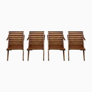 Klappbare Vintage Gartenstühle, 4er Set