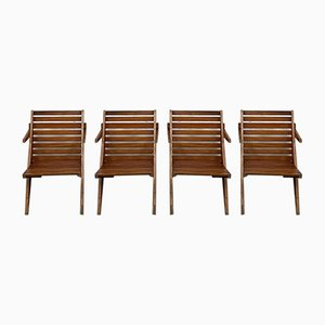 Vintage Folding Garden Chairs, Set of 4