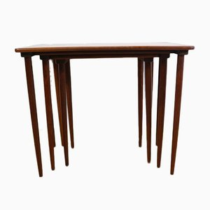 Vintage Danish Teak Nesting Table Set by H. W. Klein for Bramin