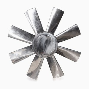 Large Polished Intake Fan Blade, Circa 1950