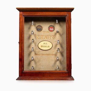 English Civic Pipes Counter Display Cabinet, Circa 1910