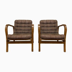 Vintage Armchairs by K. Kozelka & A. Kropacek for Interier Praha, Set of 2