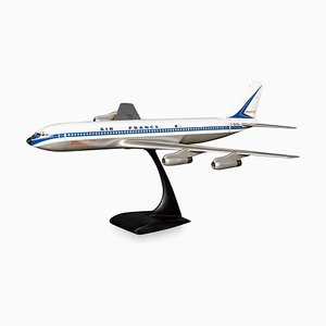 Lackiertes Aluminium Flugzeugmodell von Air France, Circa 1970