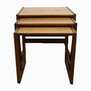 Set di tavolini a incastro Quadrille Mid-Century di G-Plan