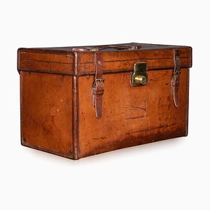 English Leather Document Case from Asprey of London, Circa 1910