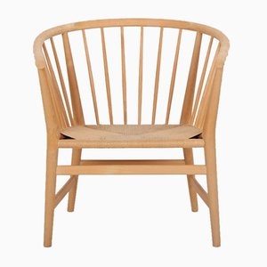 Model Pp112 Beech and Wicker Chair by Hans J. Wegner for PP Møbler