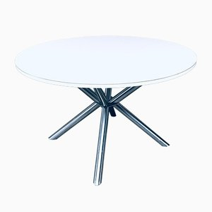 Postmodern Italian Cross Frame Dining Table, 1990s