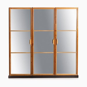 Kleiderschrank mit 3 Türen und Spiegel von La Permanente Mobili Cantù, Circa 1940