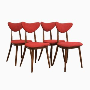 Polish Dining Chairs, 1950s, Set of 4